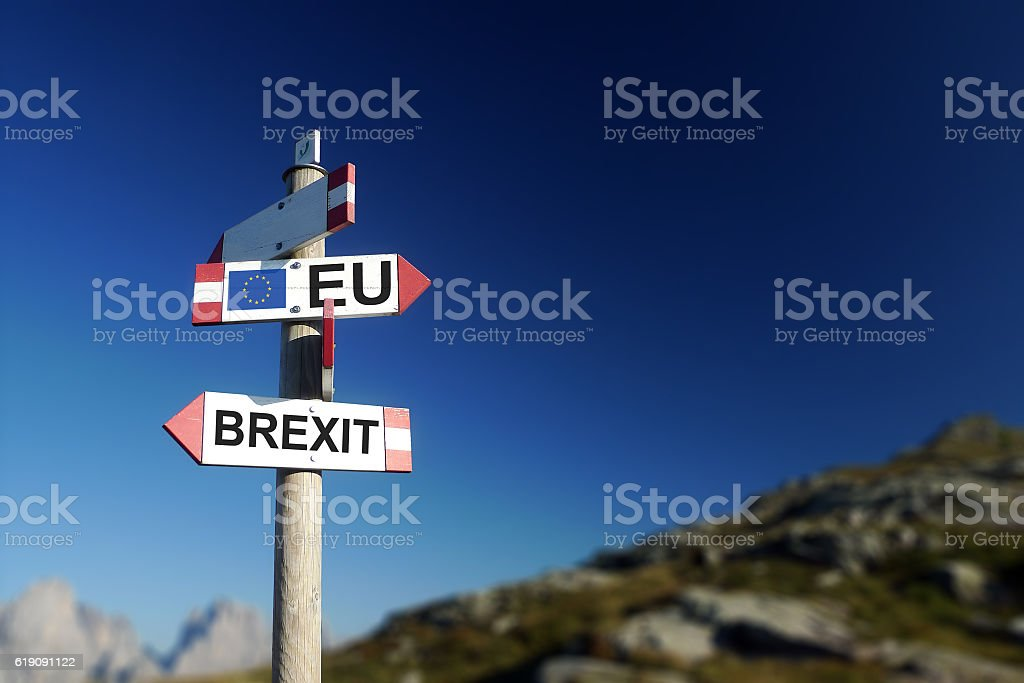 Brexit concept. stock photo
