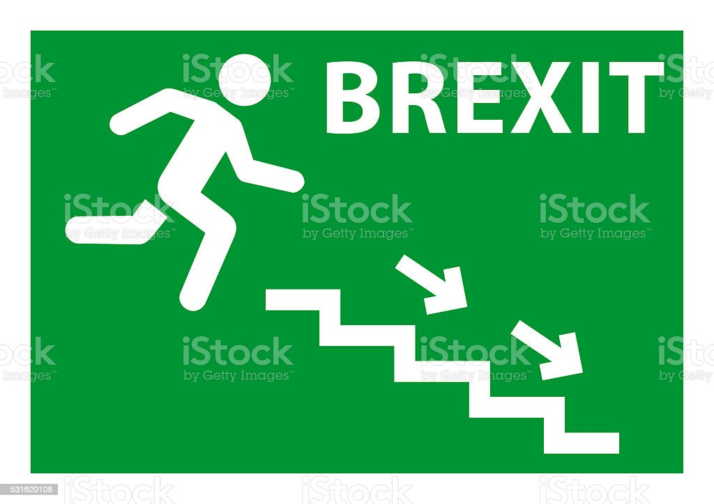 Brexit exit emergency stock photo