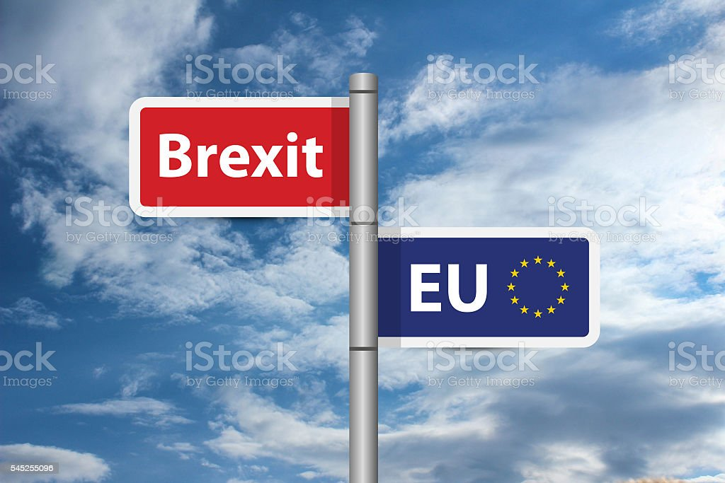 Brexit - Exit the UK from the European Union stock photo