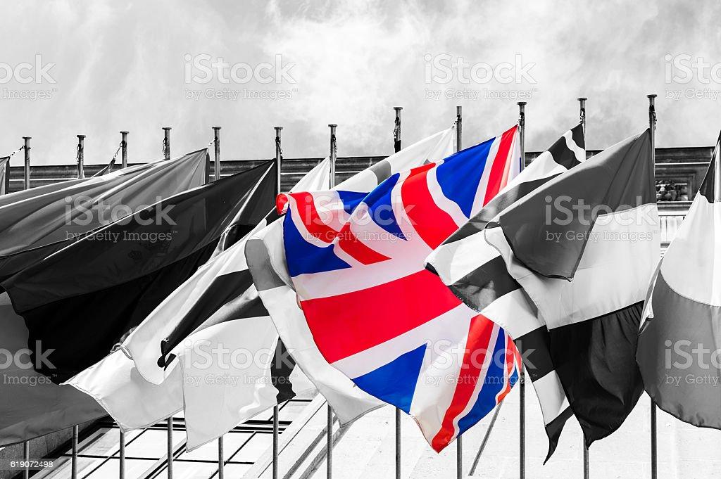 Brexit flag concept stock photo