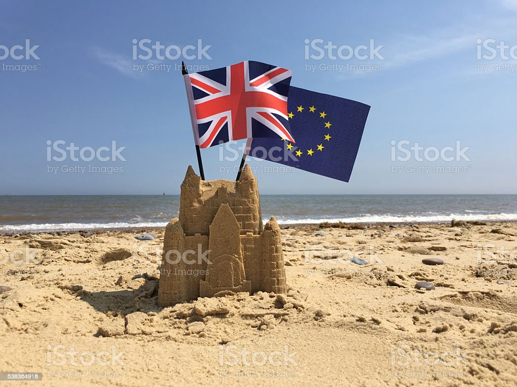 Brexit flags stock photo