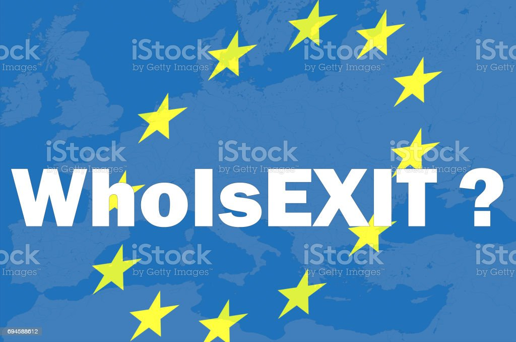 Brexit, frexit. The policy of the European Union stock photo