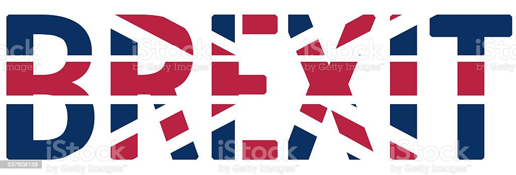 Brexit graphic concept stock photo