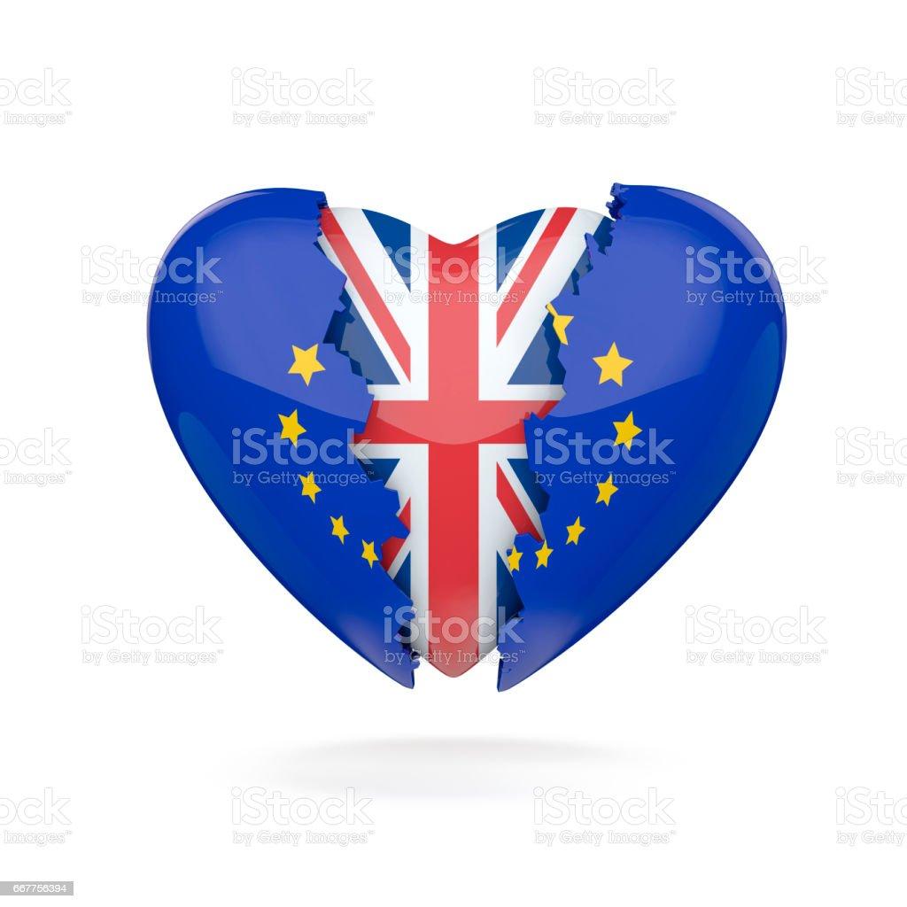 Brexit heart break stock photo
