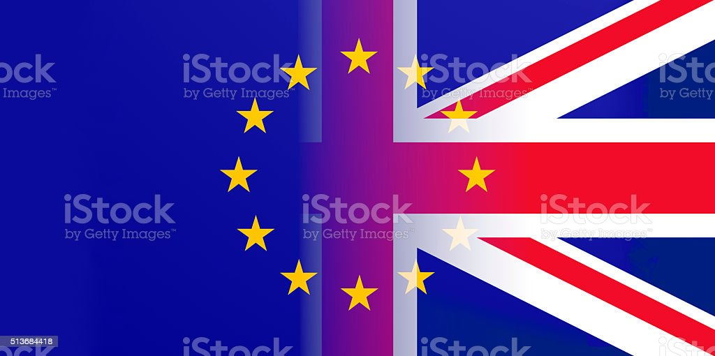 Brexit illustration stock photo
