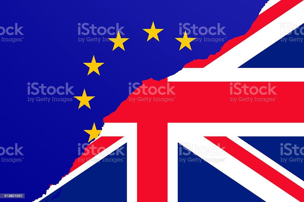 Brexit vector art illustration