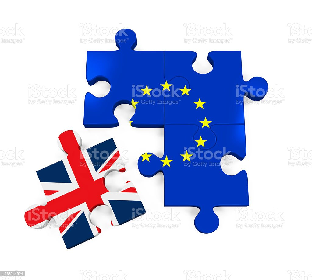 Brexit Puzzle Pieces stock photo