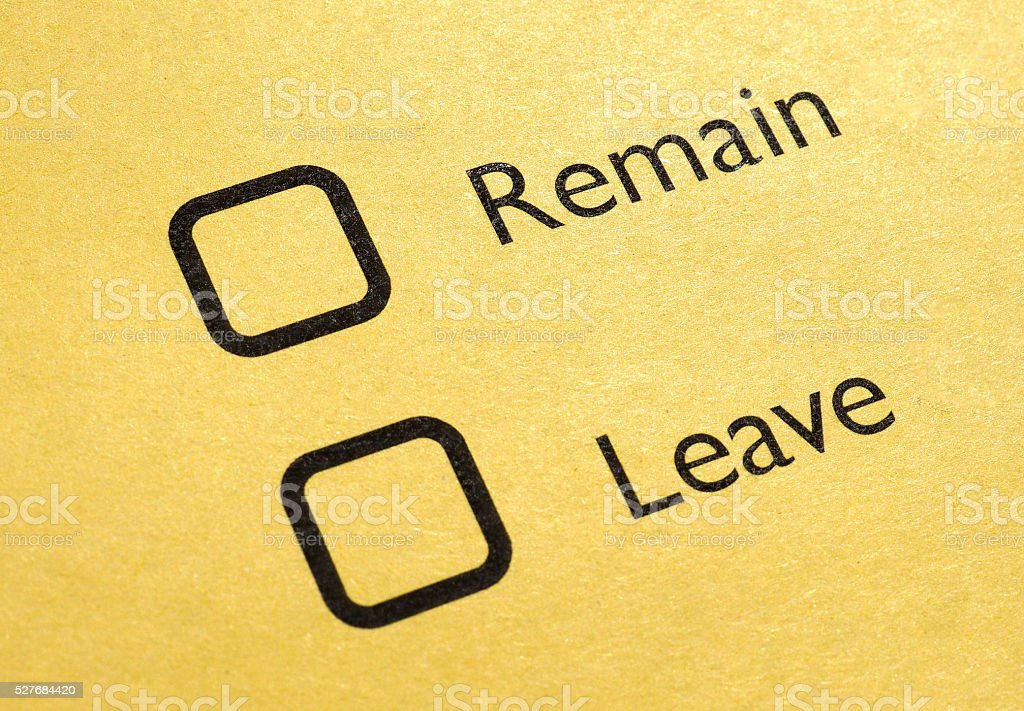 Brexit referendum in UK stock photo