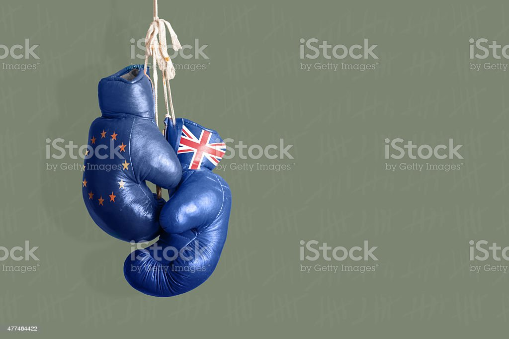 Brexit, Symbol of the Referendum UK vs EU stock photo