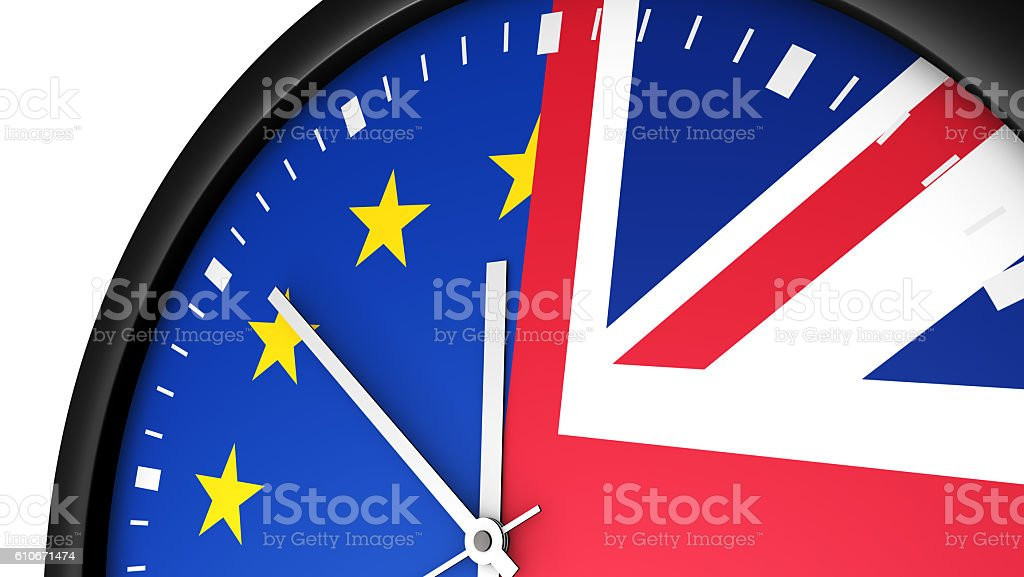 Brexit Time Concept stock photo