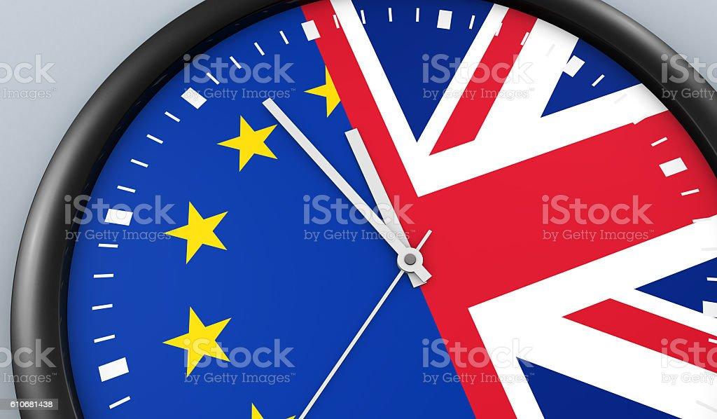 Brexit Time Negotiation Process Concept stock photo