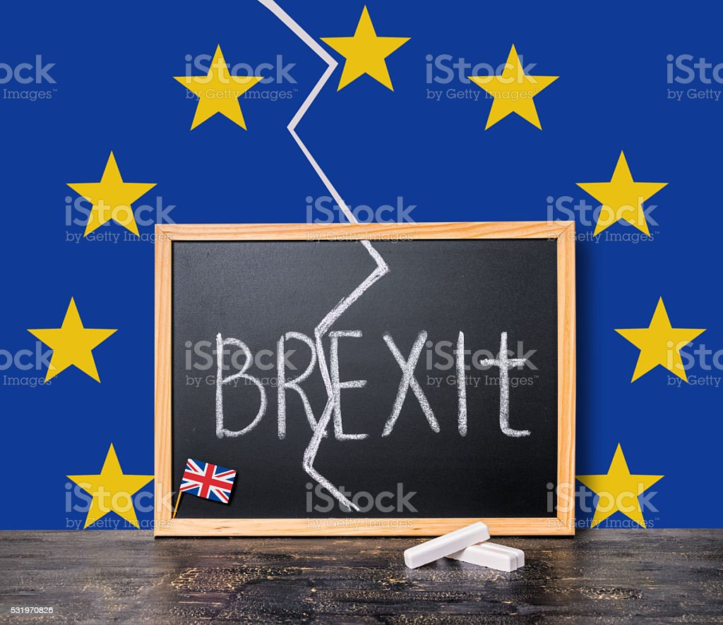 Brexit UK EU referendum concept cut Great Britain stock photo