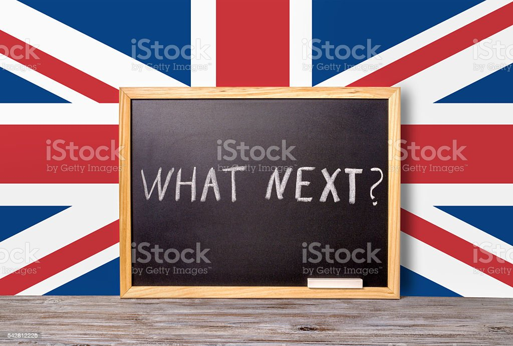 Brexit UK EU referendum concept for out of Great Britain stock photo