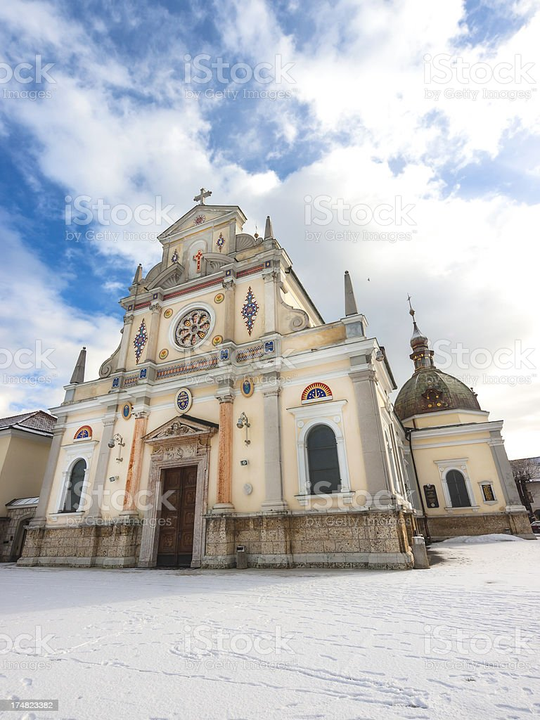 Brezje basilica stock photo