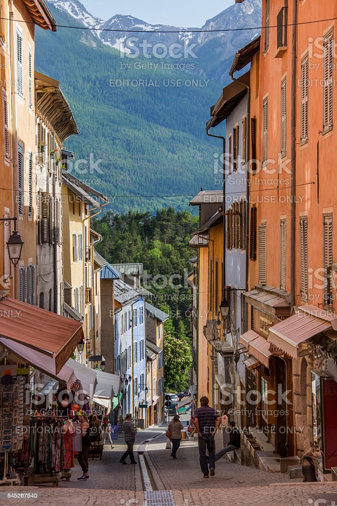 Briancon - French Alps - France stock photo
