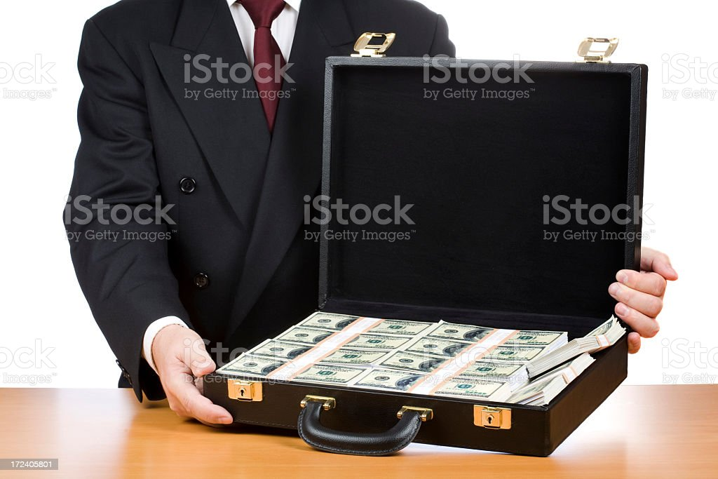 Bribe royalty-free stock photo