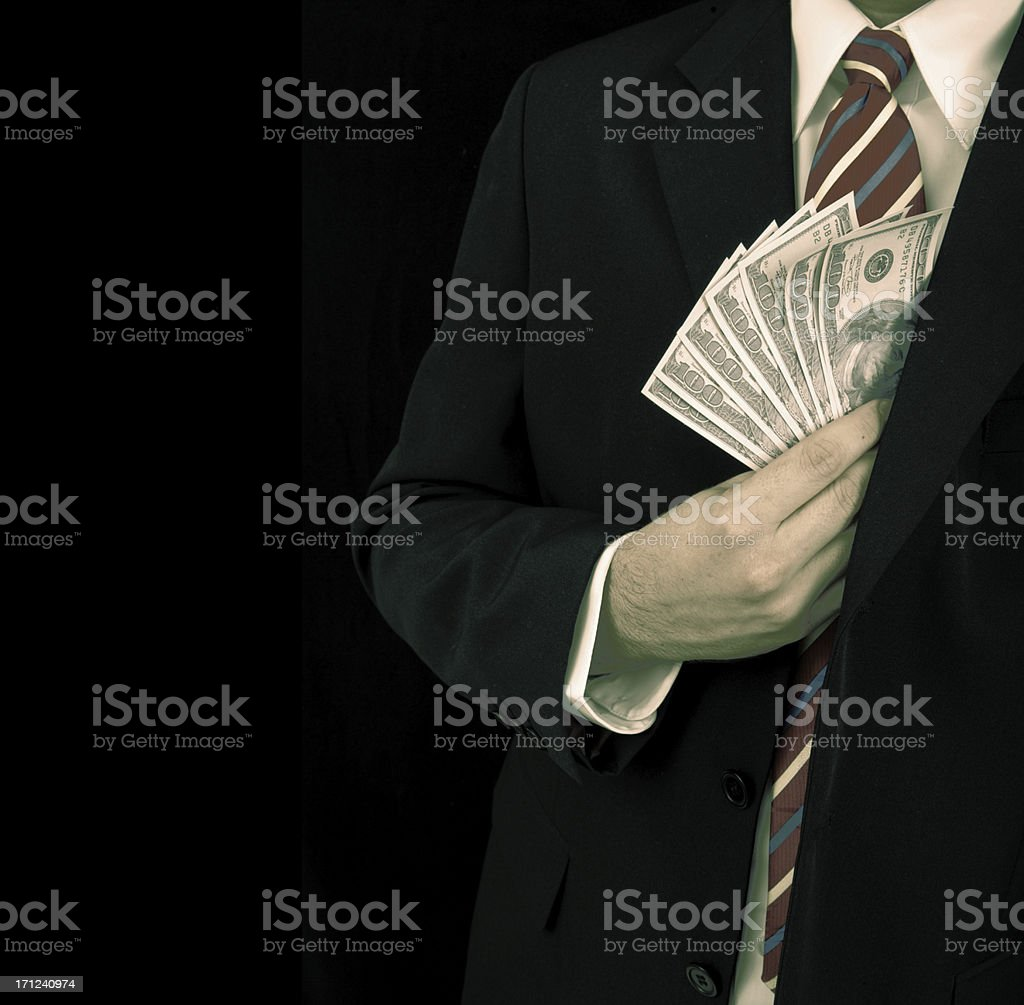 Bribery and Corruption stock photo