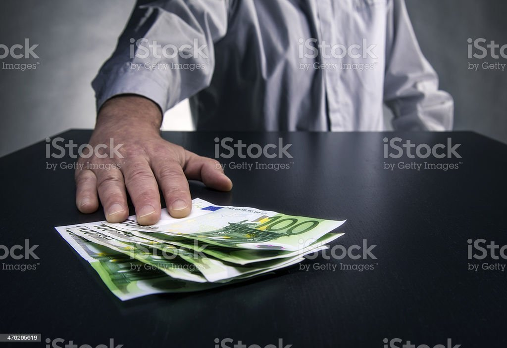 Bribery royalty-free stock photo