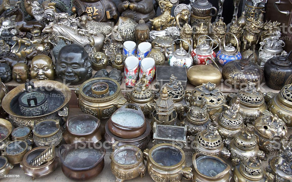Bric-a-brac  market stall royalty-free stock photo
