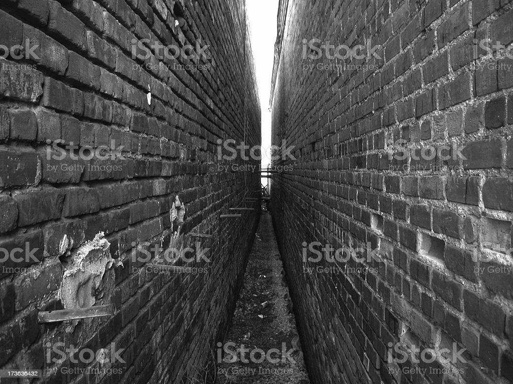 Brick Alley royalty-free stock photo