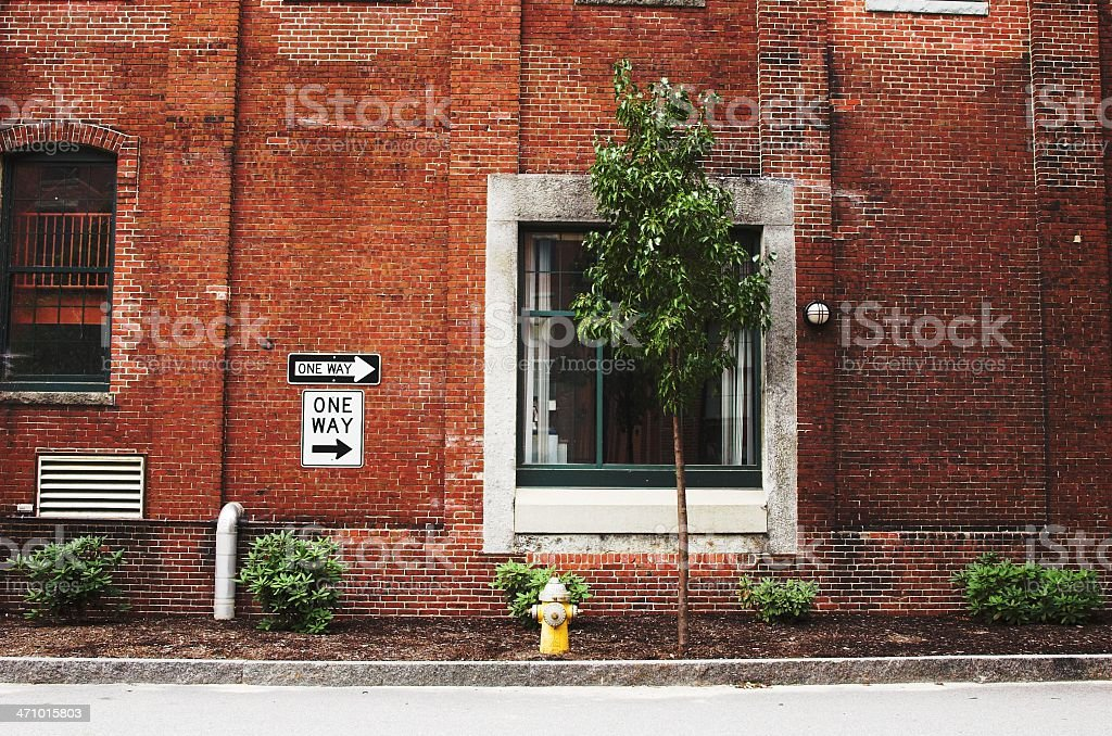 Brick alley royalty-free stock photo