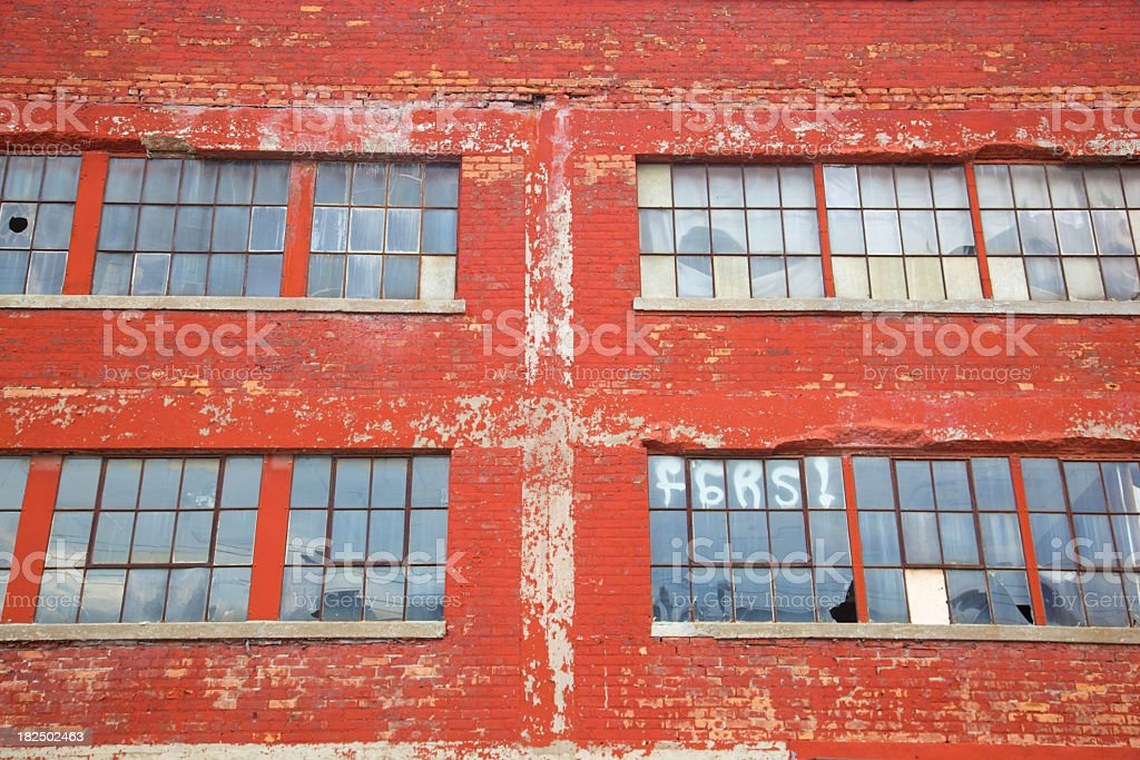 Brick and Glass Past royalty-free stock photo