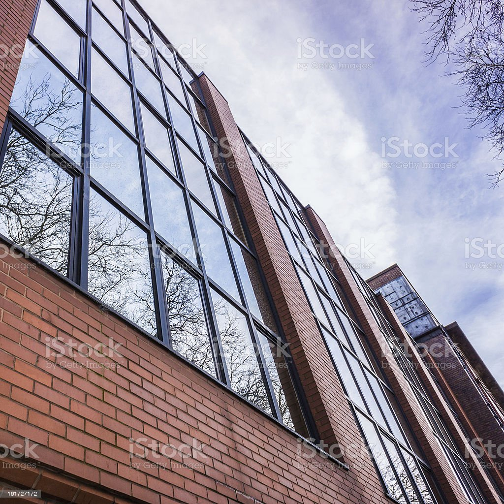 Brick And Glass royalty-free stock photo
