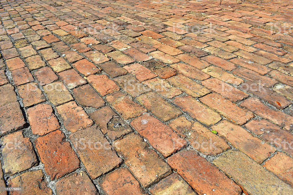 Brick and Mortor Hundreds of Years Old Full Frame Background stock photo
