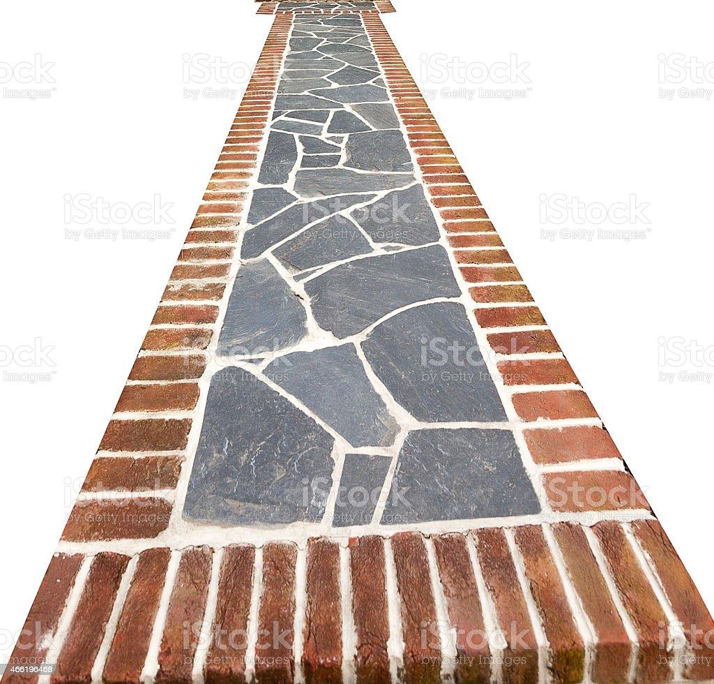 Brick and Slate Walkway stock photo