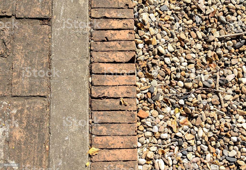 Brick and stone background horizontal royalty-free stock photo
