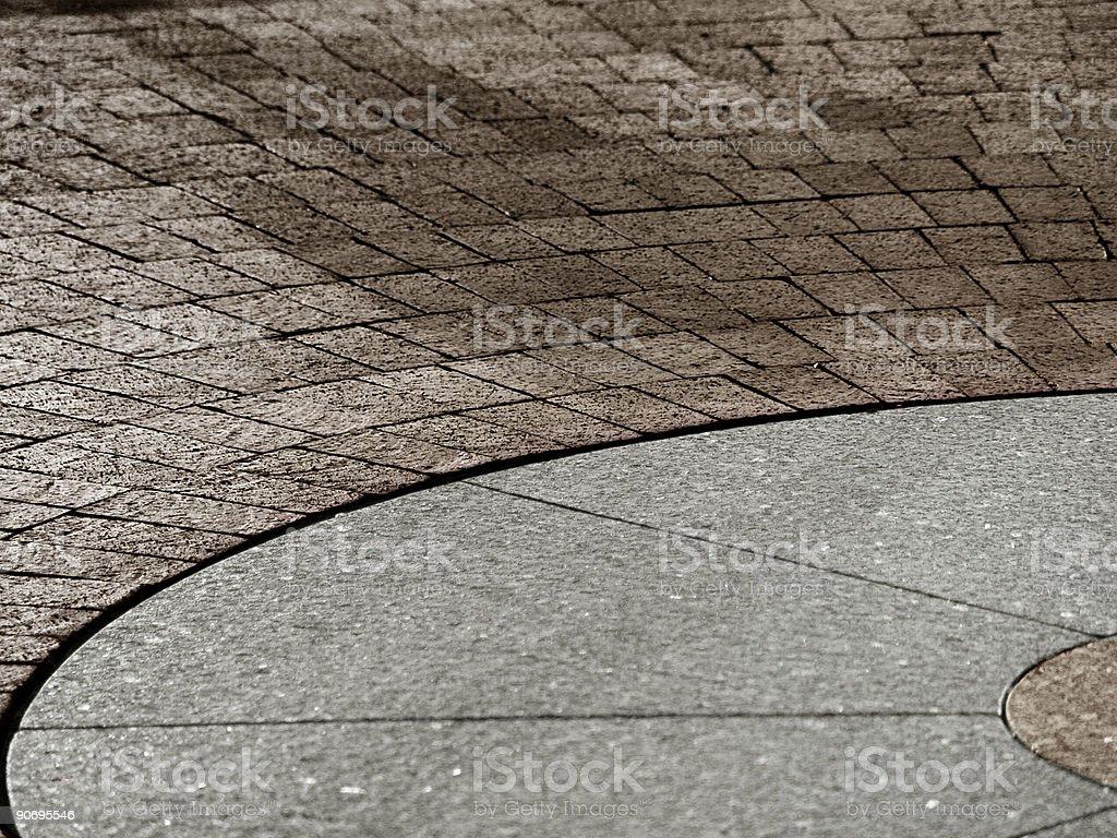 brick and stone path stock photo