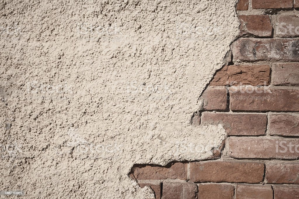 Brick and Stucco Background royalty-free stock photo