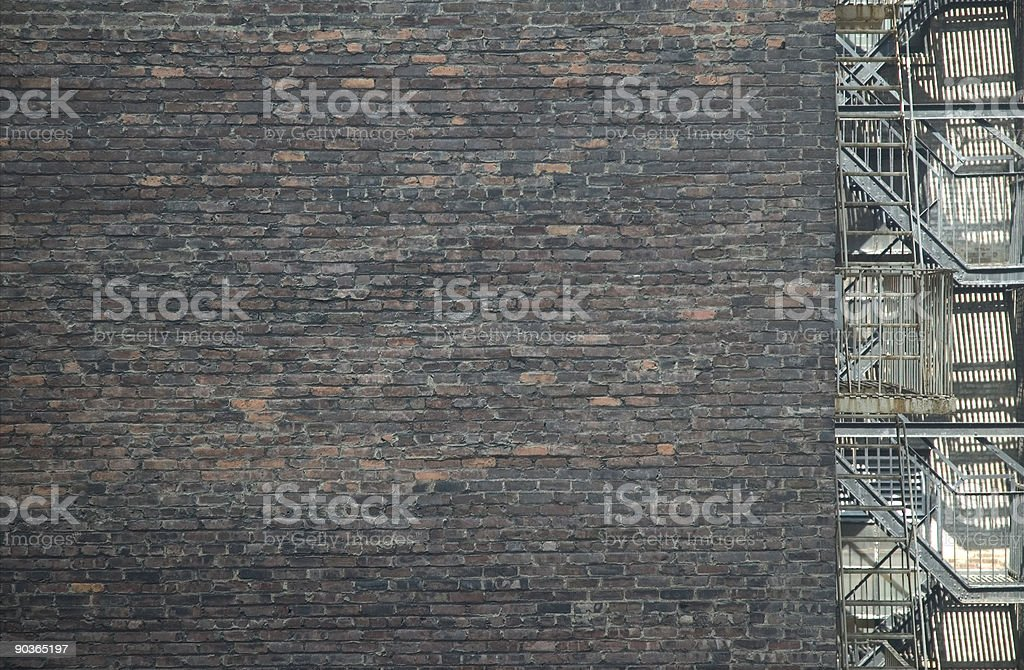 Brick Background with Fire stair stock photo