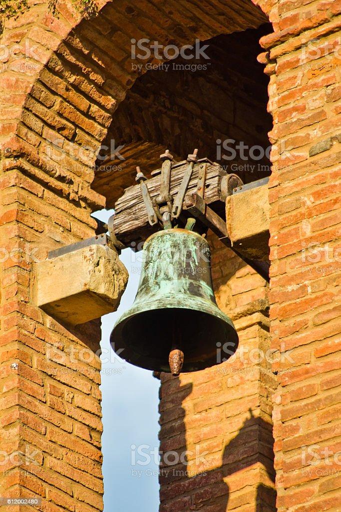 brick bell tower stock photo
