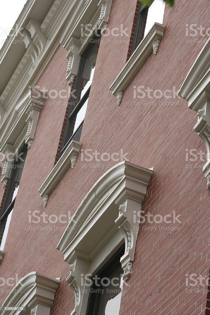 Brick Building Facade stock photo