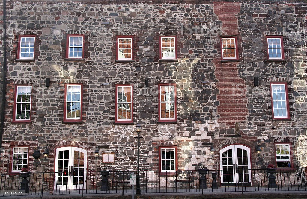 Brick Building in Savannah, Georgia. royalty-free stock photo