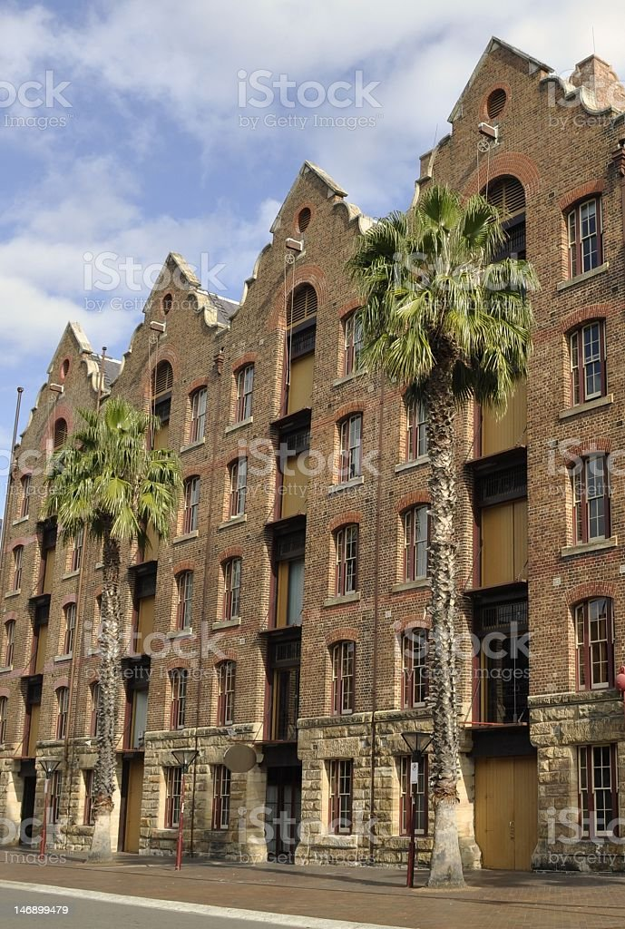 brick buildings stock photo
