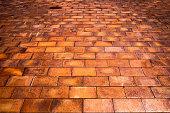 Brick burn texture background