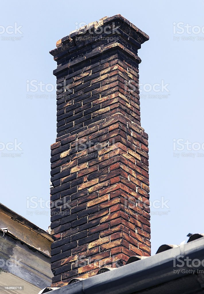 brick chimney royalty-free stock photo
