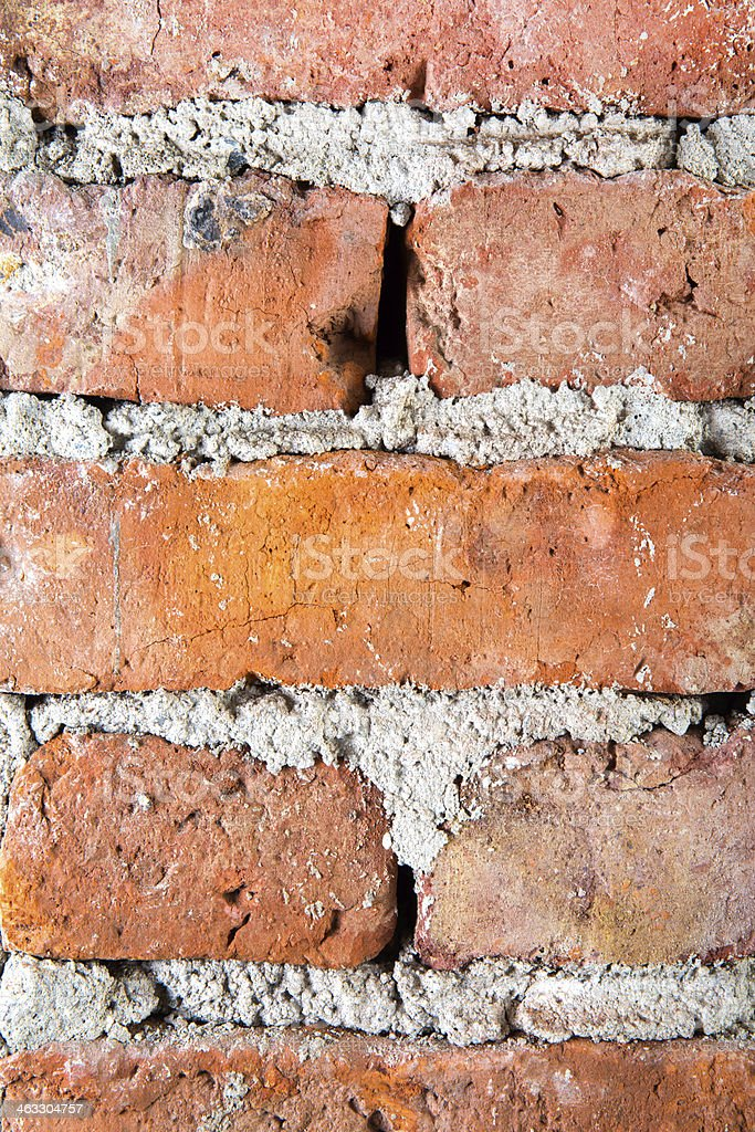 Brick door jamb in masonry home stock photo
