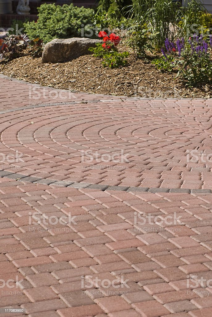 Brick driveway royalty-free stock photo