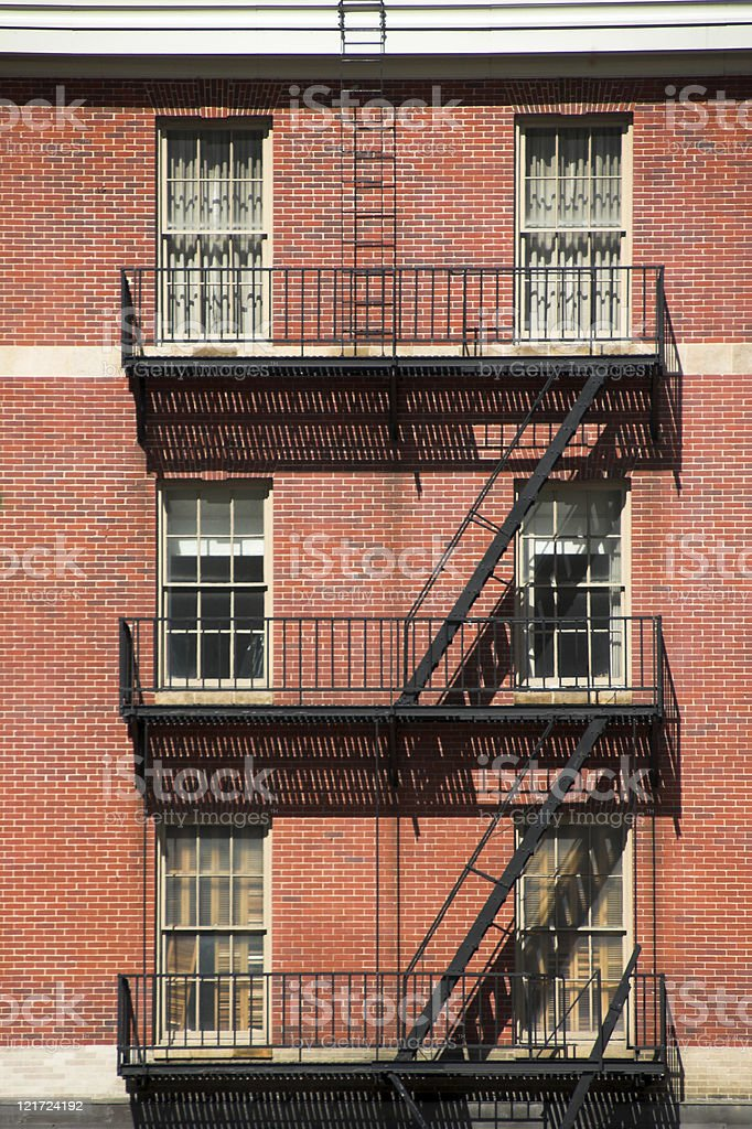 Brick Escape stock photo