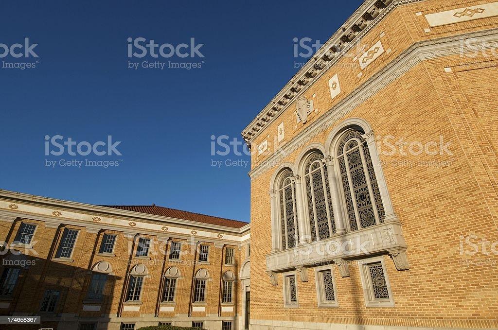 Brick Exterior Church stock photo