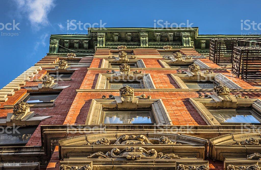 Brick Facade Manhattan stock photo