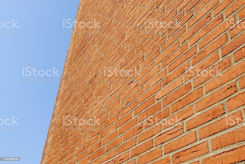 Brick facade royalty-free stock photo