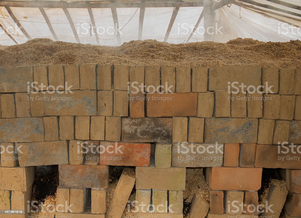 Brick factory, Bali, Indonesia royalty-free stock photo