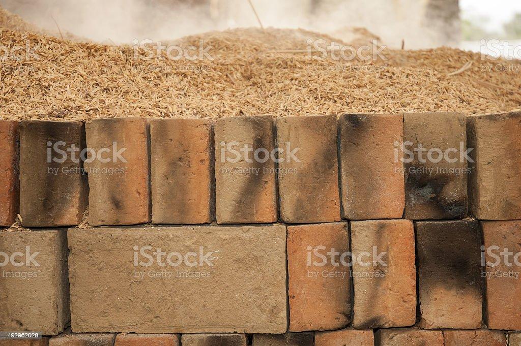 Brick factory, Bali, Indonesia royalty-free stock photo