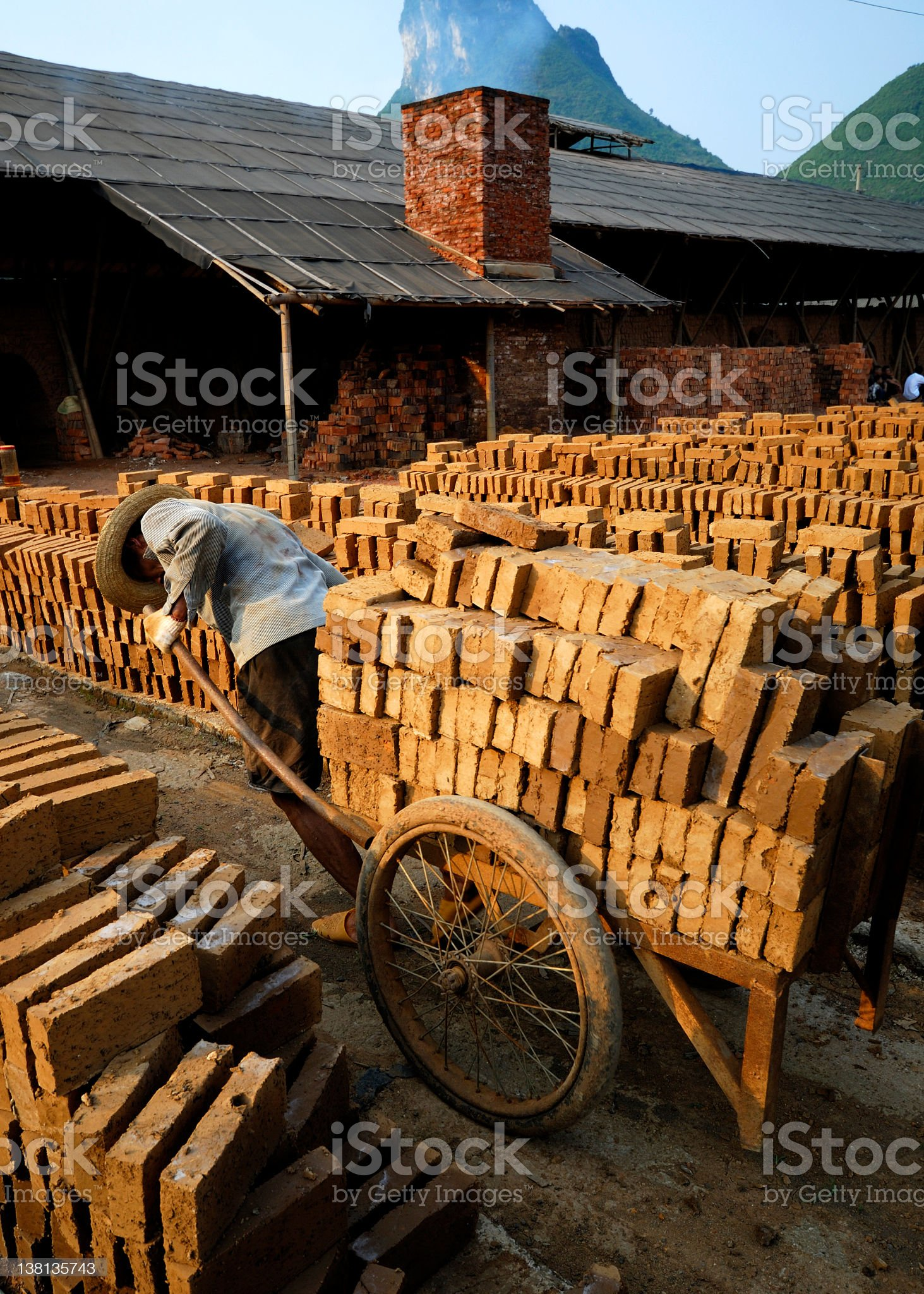 Brick Factory royalty-free stock photo