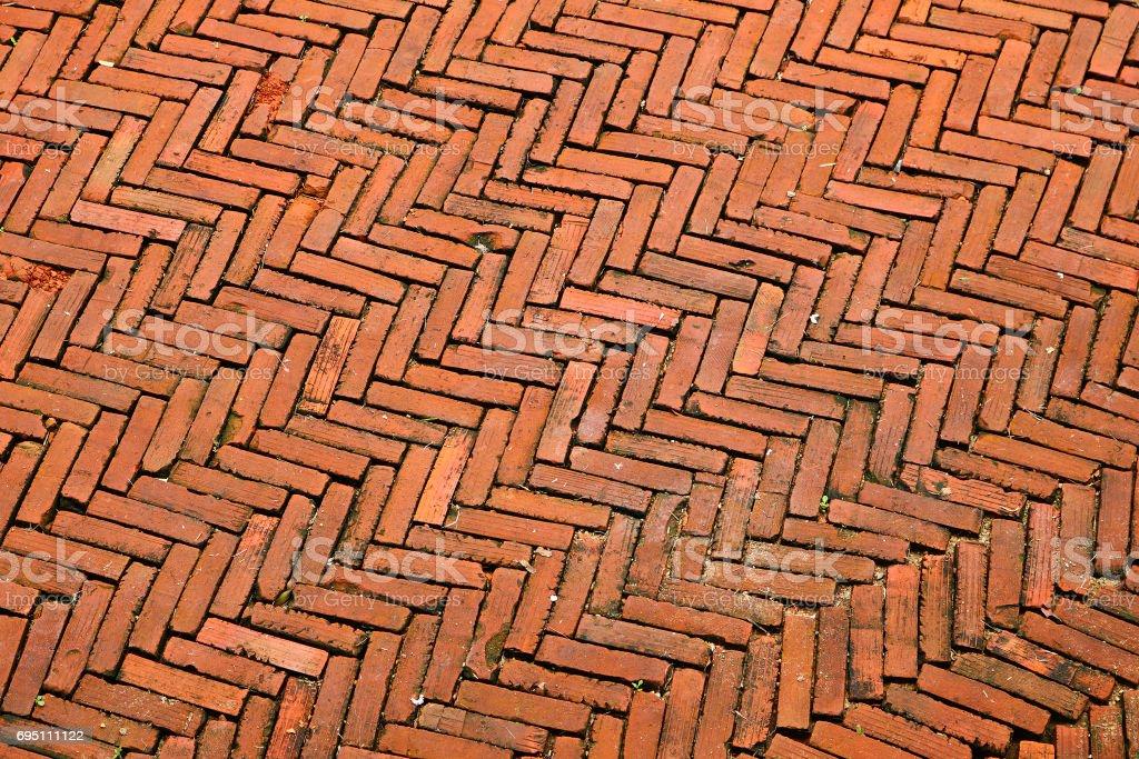 Brick floor background stock photo