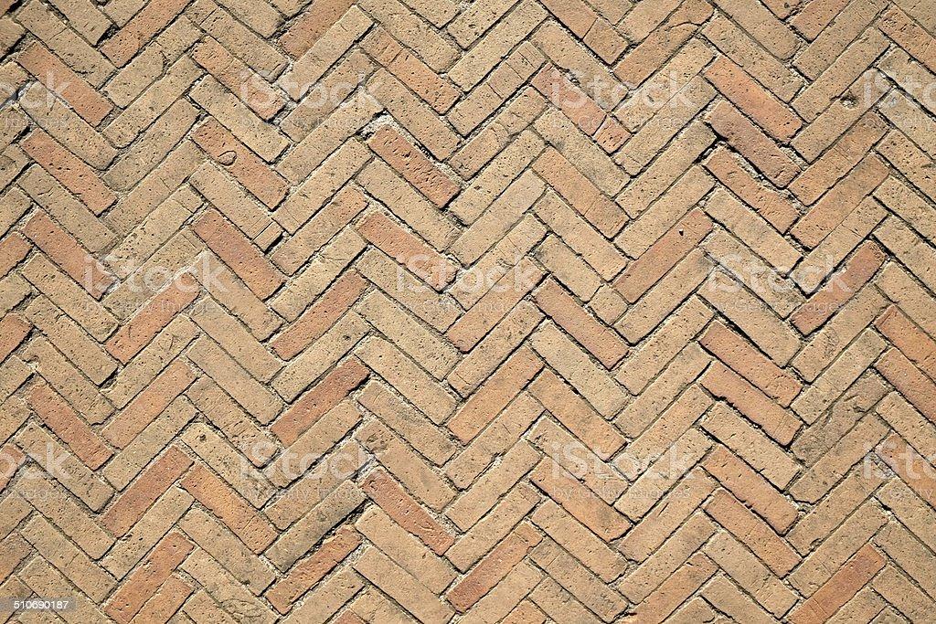 Brick Flooring of Roman Colloseum stock photo